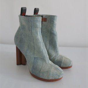 Louis Vuitton Silhouette Ankle Boots Patchwork Den